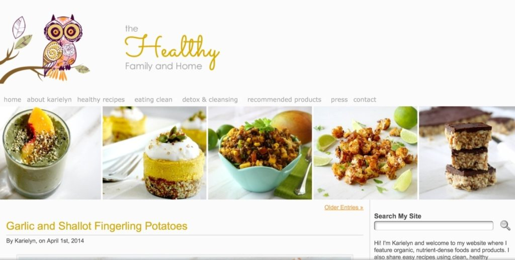 The Healthy Family & Home website is looovely…